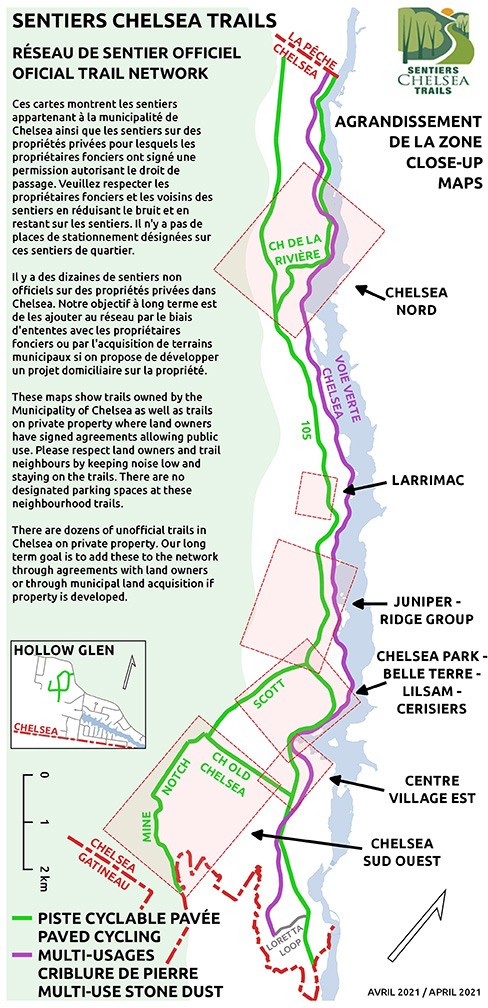 overview map with some info about respecting the trail and ownership.
